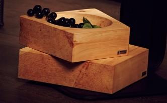Schüssel aus Holz - Zirbenholz