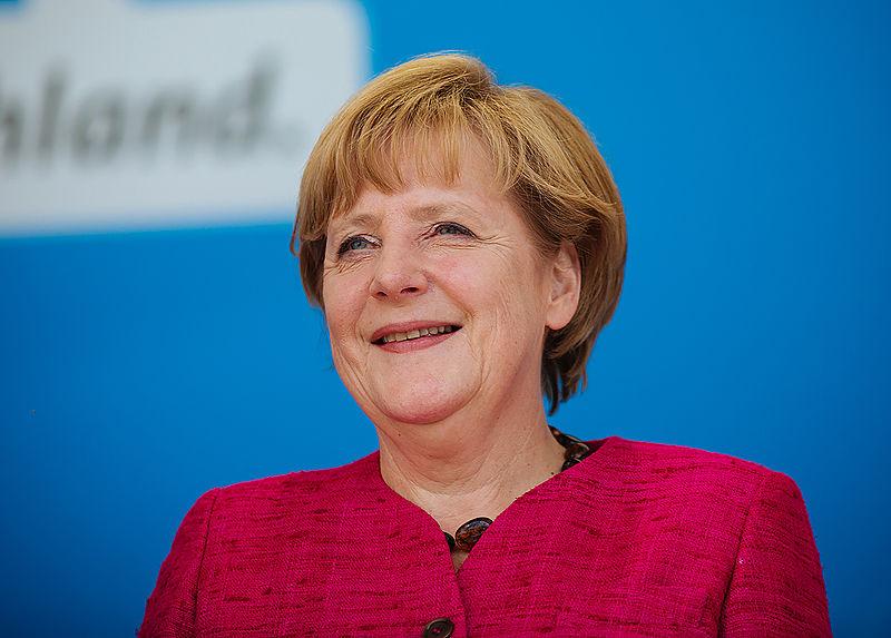 Die deutsche Bundeskanzlerin Angela Merkel diskutierte mit … Bild: Foto: Alexander Kurz, Lizenz: CC-BY-SA-3.0