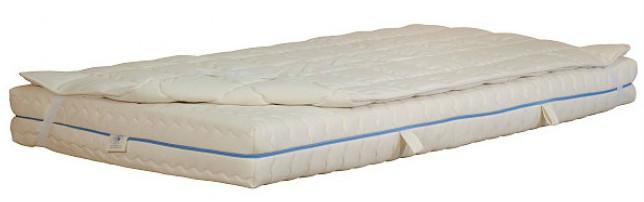 Matratzenauflage aus reiner Schafschurwolle