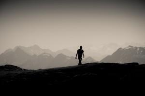 Als Wanderer unterwegs zu neuen Abenteuern...