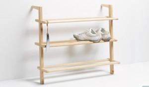Minimalistisch, formschön und funktional: Das Schuhregal Gaston