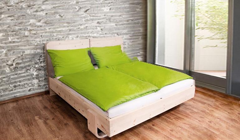 Sieht aus wie ein ganz normales, schönes Bett. Ist aber Dank Zirbenholz ein Garant wir ein natürliches, harmonisches Leben.