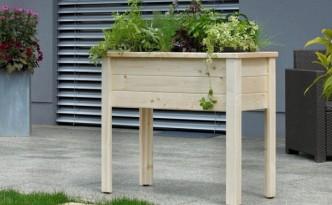 """So schaut die Lösung aus: Das Hochbeet """"Herb"""" aus Fichtenholz!"""